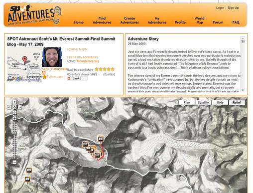 Le dispositif SPOT au service des expéditions et des alpinistes