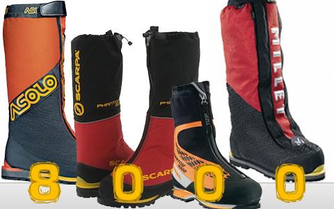 Les chaussures d'expédition et d'alpinisme de 5000m à 8850m