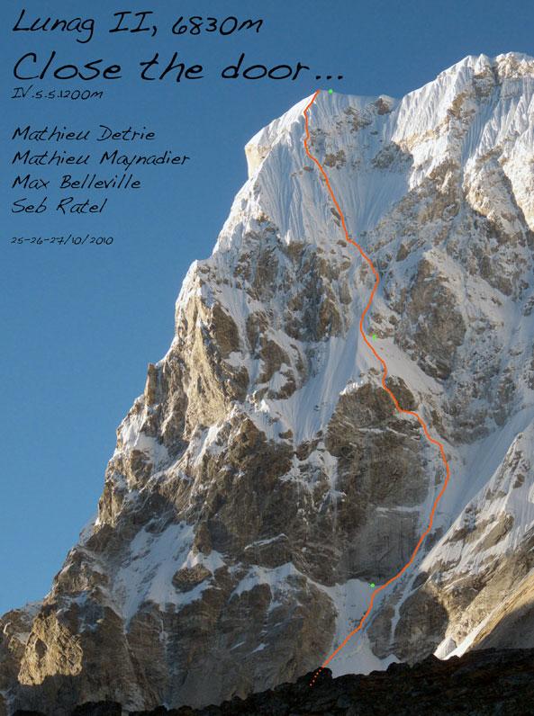 """Nouvelle voie au Lunag II, 6830m, Népal  """"Close the door"""" (vidéo)"""