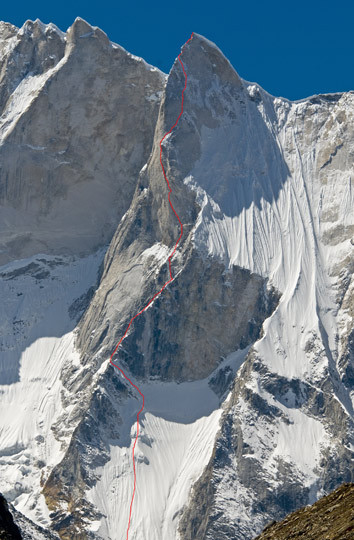 Shark&#8217;s Fin directissime au Meru Central 6310m