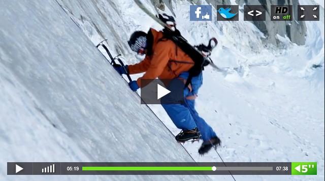 Surf et glace au Mont Blanc avec Xavier de Le Rue et Lucas Debari