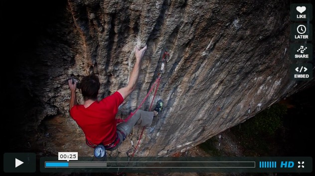 Escalade avec Chris Sharma