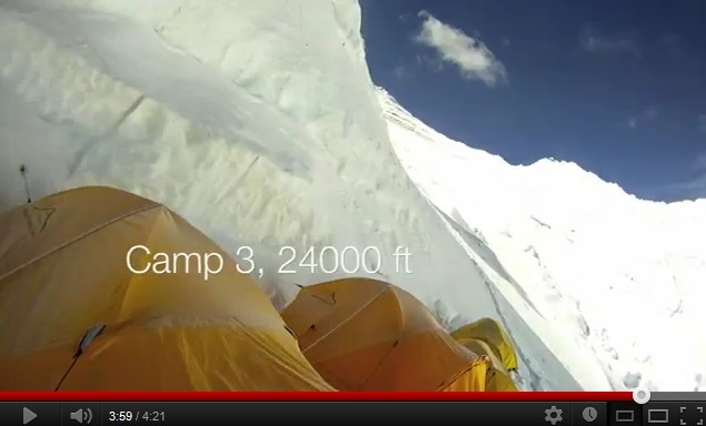 Everest camp 2 à camp 3