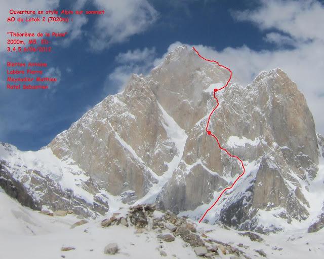 Performance française au Latok 2 (7150m)