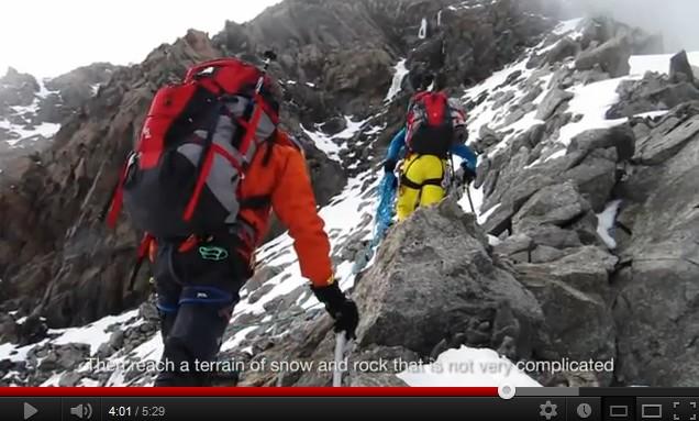 Hervé Barmasse, Iker and Eneko Pou nouvelle voie au Mont Blanc