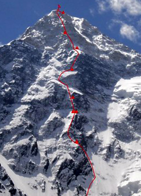 Nouvelle voie directe nord au Khan Tengri
