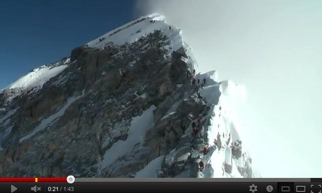 Journée du sommet à l'Everest