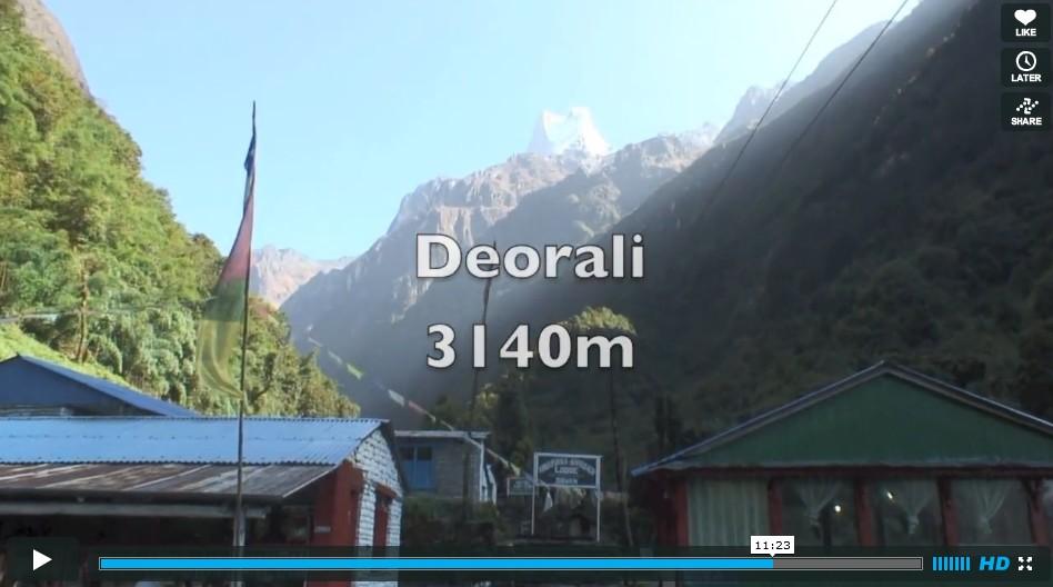 Le tour des Annapurnas & sanctuaire en vidéo