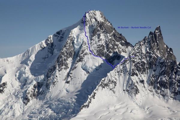 Première de la face Nord Ouest du Mont Burkett, Alaska