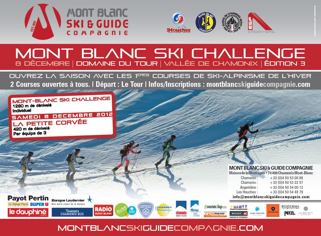 3ème édition du Mont-Blanc Ski Challenge