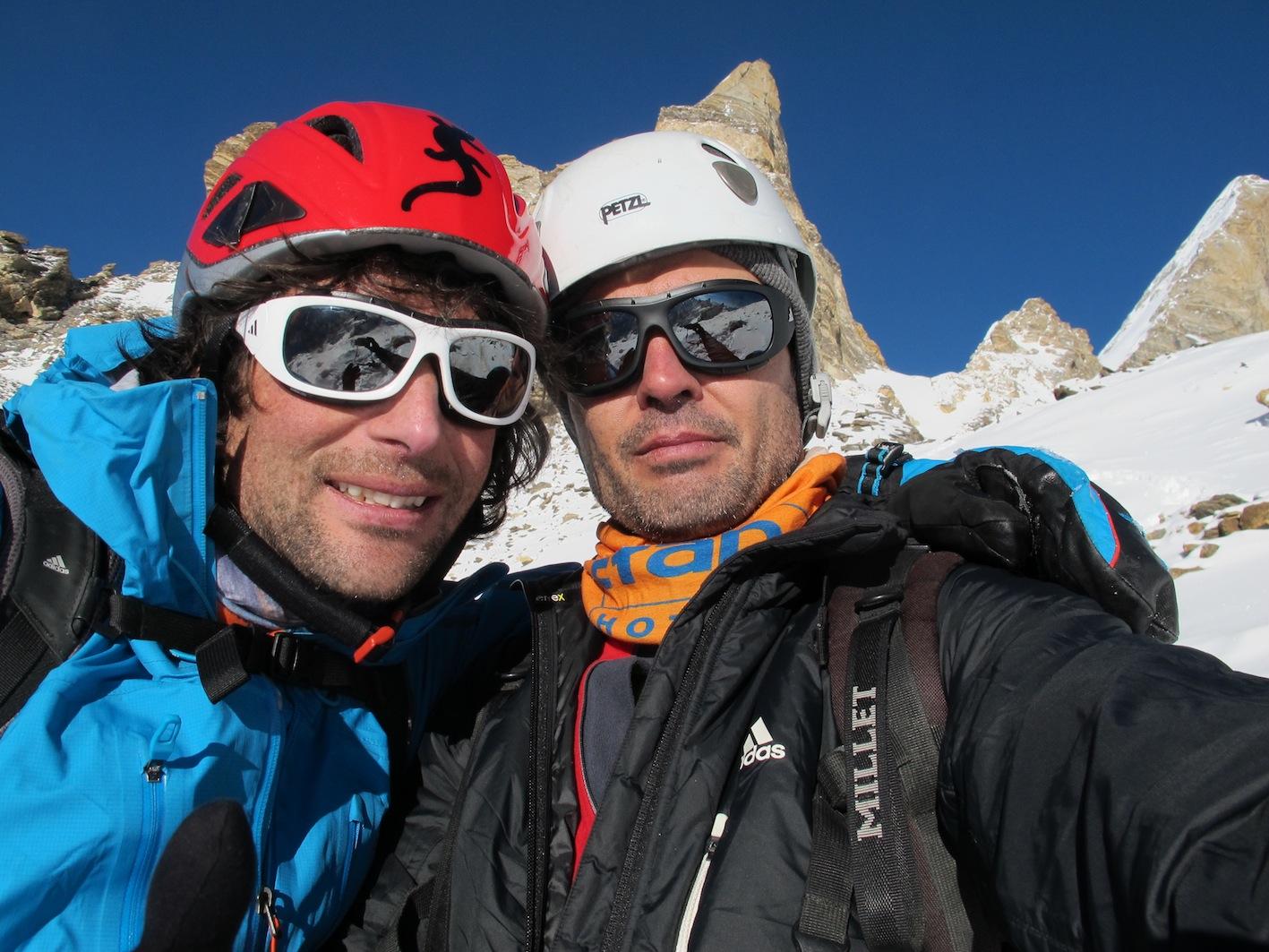Première hivernale du Laila Peak