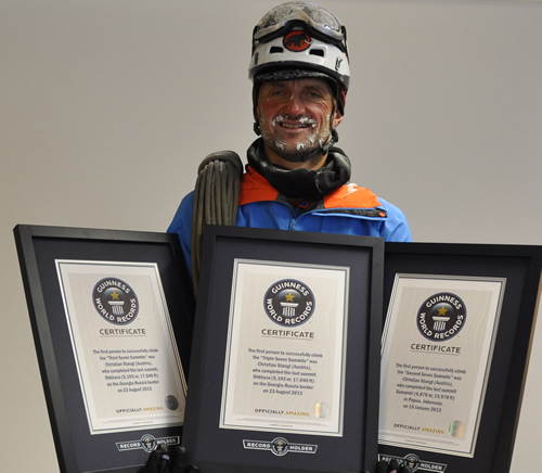 Christian STANGL dans le livre des records – Guinness World Records