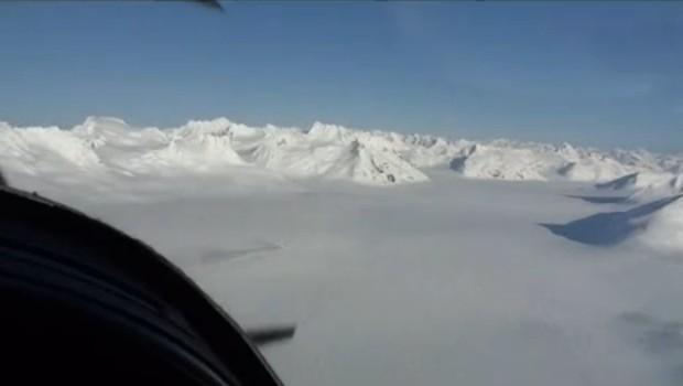 Vol au dessus de Glacier Bay National Park, Alaska