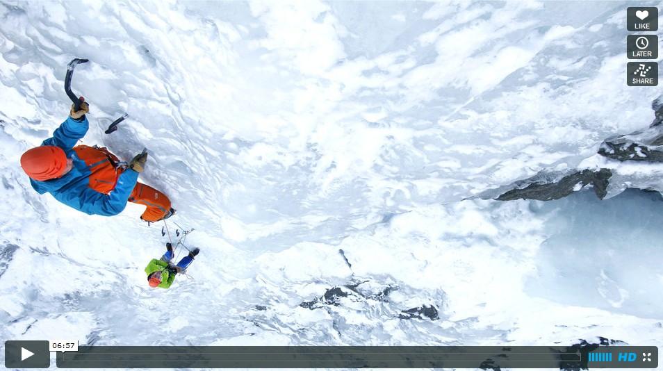 Les basiques de la cascade de glace: brochage, relais, abalakov [FR]