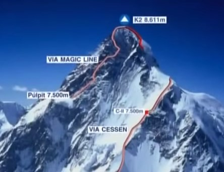 "Documentaire sur la ""Magic Line"" Expedition au K2 en 2004"