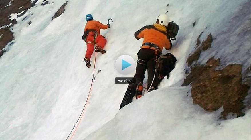Al Filo de lo impossible, cascade de glace à Gavarnie avec Rémi Thivel