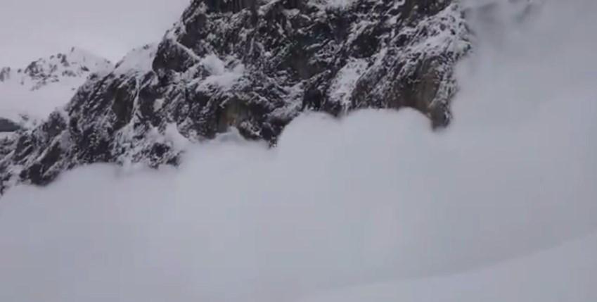 Avalanche à Gavarnie en vidéo