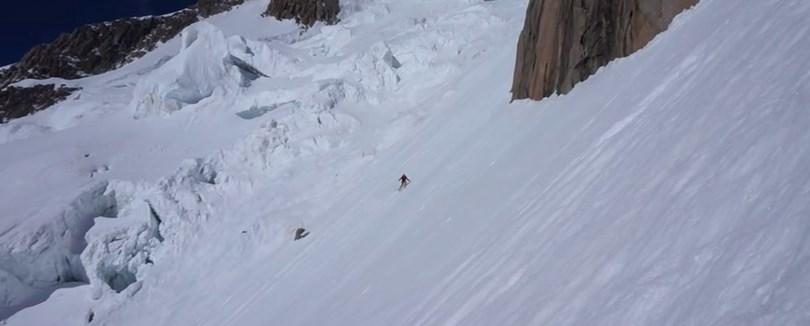 Bassin de la Brenva – Voie Caribou à ski