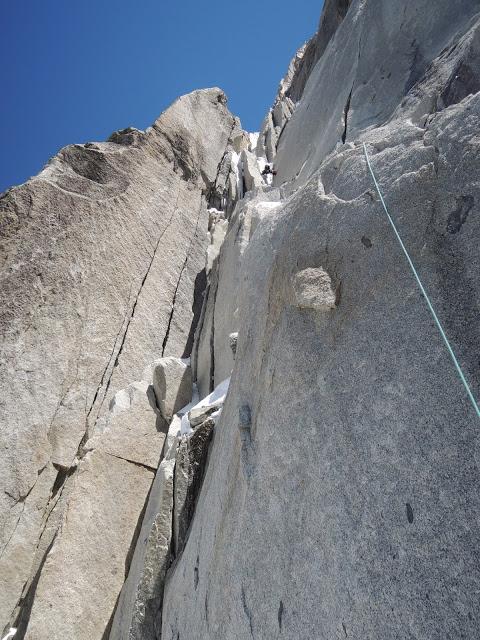 Face Ouest de l'Aiguille du Plan (3673m), ouverture, 700m, M5/95°/6b/A1 par Jeff Mercier et Fabien Dugit