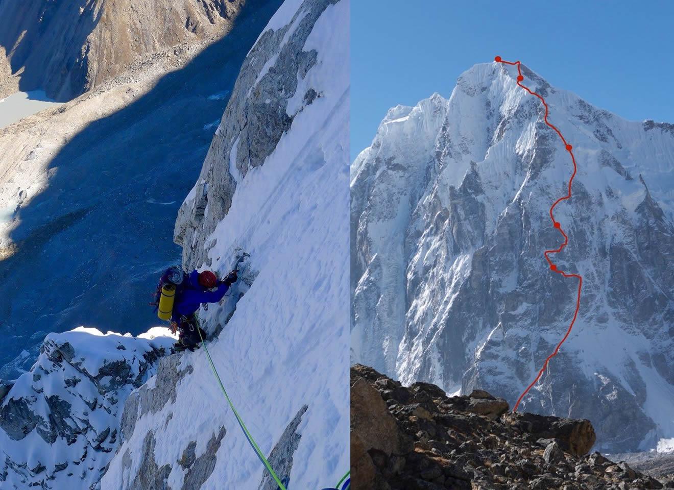 Mick Fowler et Paul Ramsden pour une première au Gave Ding 6400m, Nepal (ED+ 1,600m)