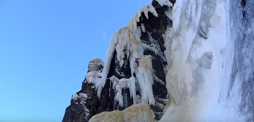 'Stormbringer- No Retreat' cascade de glace avec  Tanja Schmitt, Heike Schmitt et Matthias Scherer
