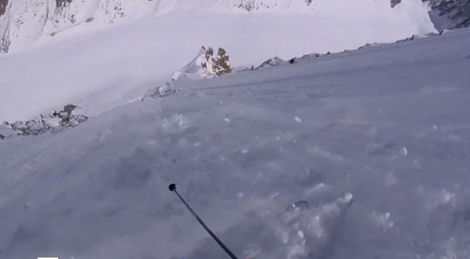 Face nord des Courtes(Les Autrichiens) à Skis