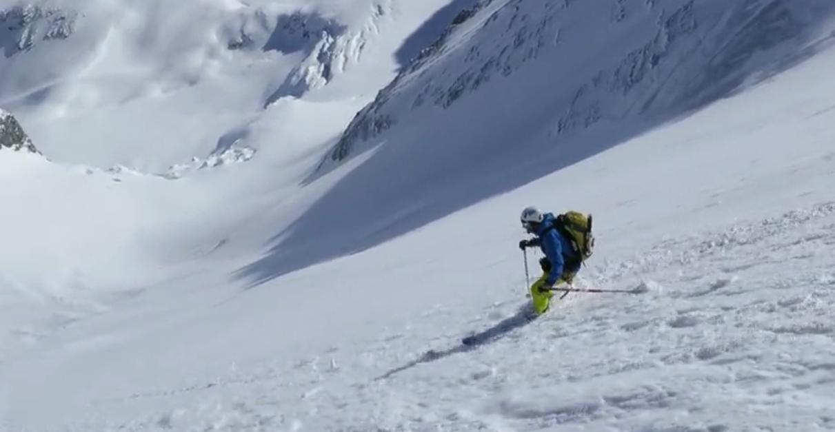 Grande Casse Petite Face Nord en ski avec Xavier Carrard