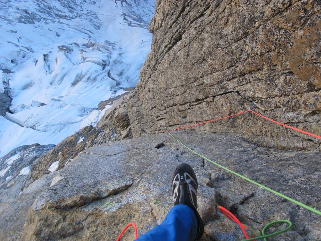 Face nord des Grandes Jorasses (4208m) – Éperon de la Pointe Walker par Michel Mounier