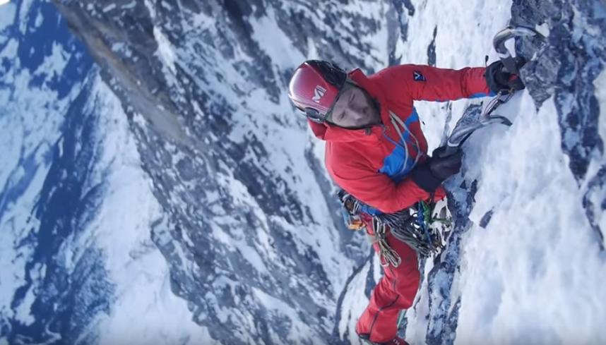 Face à Face dans la face Nord de l'Eiger avec Lorenz Frutiger et Louis Laurent (Millet Vidéo FR)