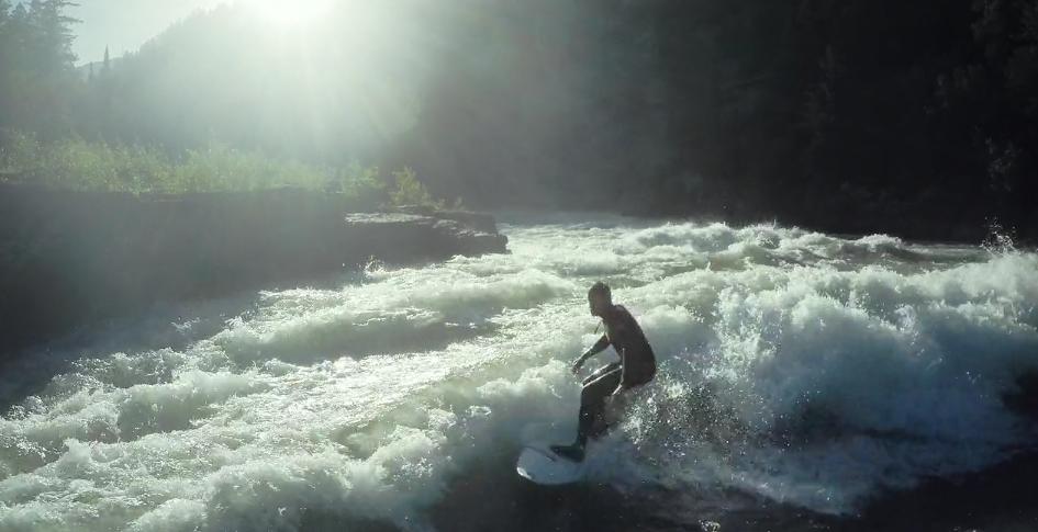 Surf de rivière au Montana, Wyoming et Idaho