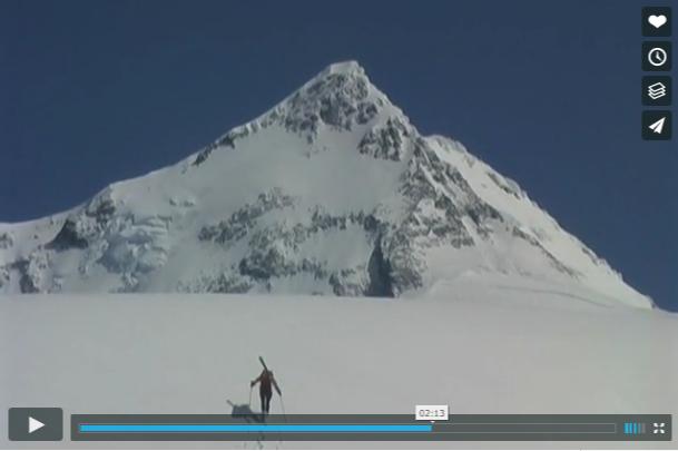 Descente à skis du mont Saint Elias face sud ouest (vidéo)