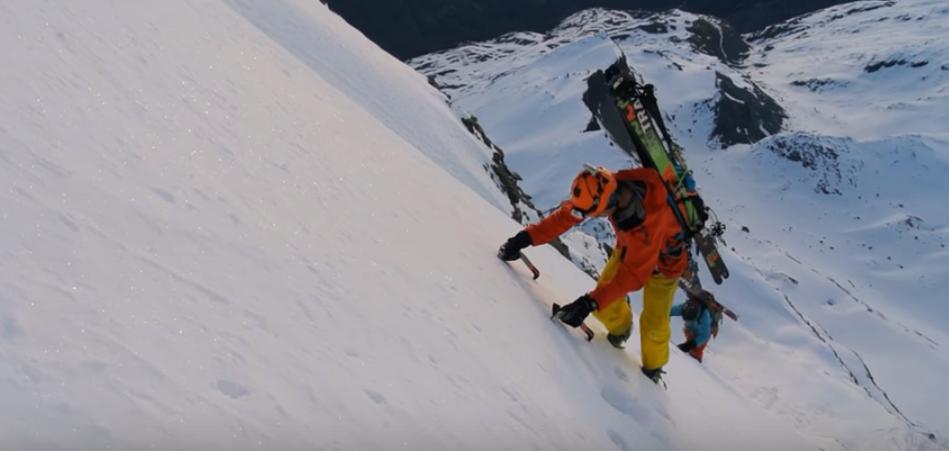 Hymani – Descente à ski de la face est du Cervin
