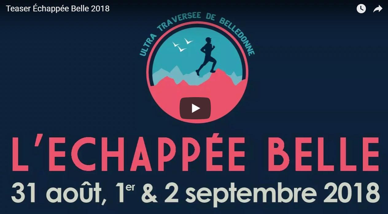 UltraTrail à découvrir Alpes : Échappée Belle 2018