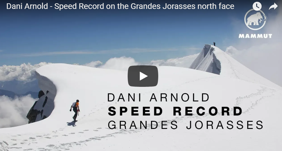 Record d'ascension sur la face nord des Grandes Jorasses par Dani Arnold