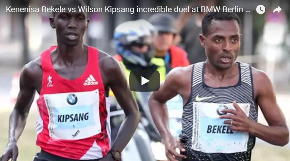 Kenenisa Bekele vs Wilson Kipsang  au marathon de Berlin 2016