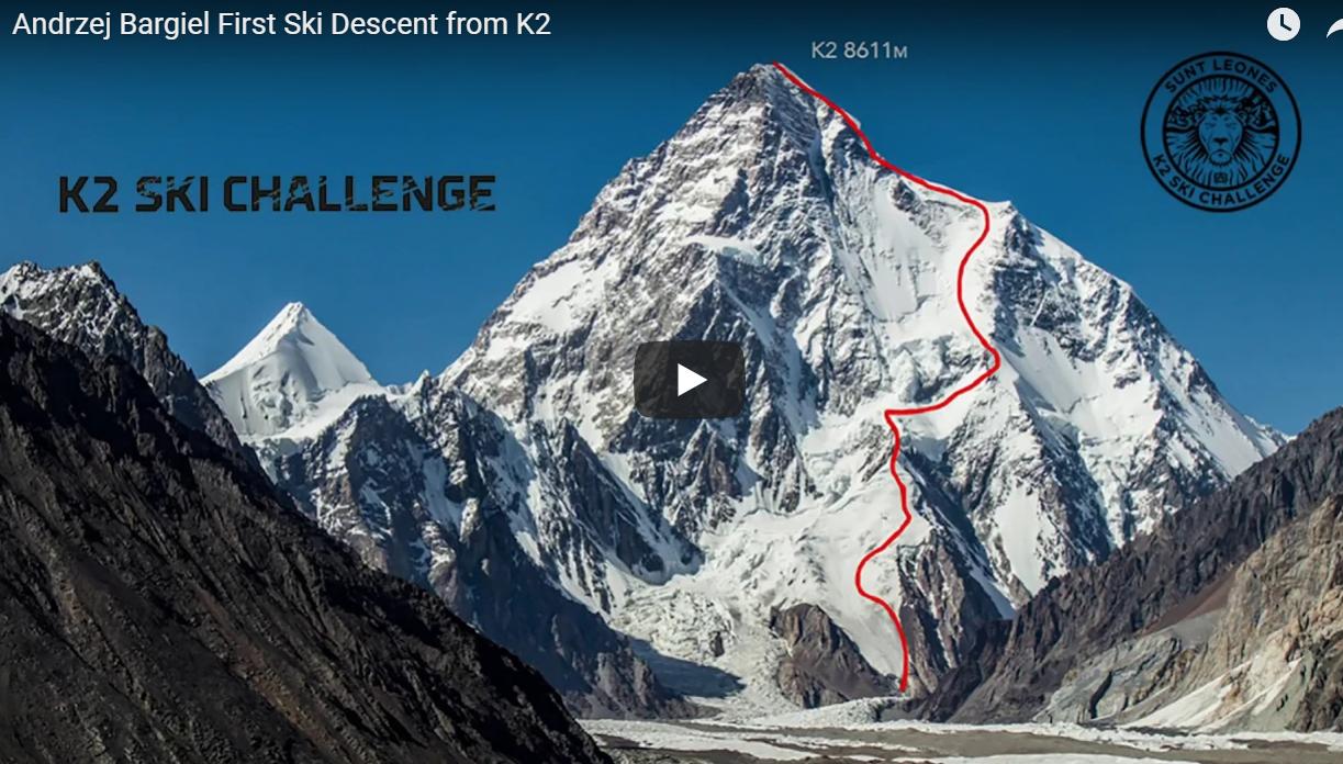 Andrzej Bargiel annonce la première descente a ski du k2 8611m en vidéo